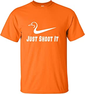 Adult Just Shoot It Funny Duck Hunting T-Shirt
