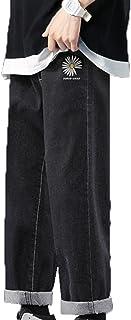 Generic11 Pantaloni in Denim da Uomo Stile Casual Piedi Dritti Larghi Non Facili da sbiadire Jeans Pantaloni Larghi e Sott...