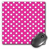 cute and girly hot pink polka dot mousepad