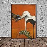 Cuadros en lienzo Fondo naranja Moderno Abstracto no sé Impresión artística Pintura en lienzo Decoración moderna del hogar Arte de la pared -60x90cm / 23.6 'x35.4' Sin marco