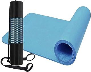 Rag & Sak Yoga Mat With Cover 10 mm Thick 150 * 61 * 1CM Non Slip Exercise & Fitness Mat for All Types of Yoga, Pilates & ...
