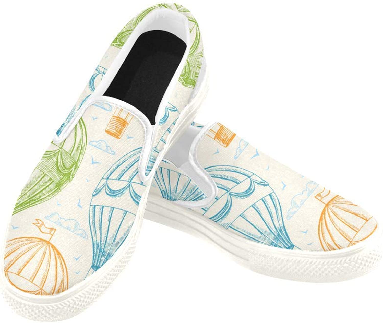 InterestPrint Womens Slip On Canvas shoes Loafers Watercolor Floral Girls Classic Casual Sneakers Flats