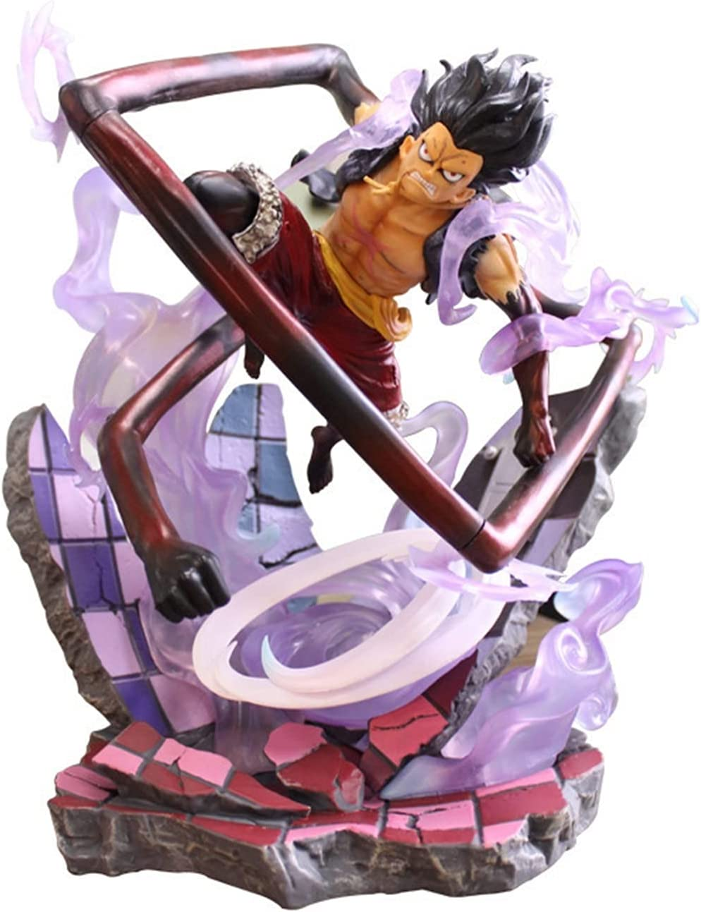 ZZQYY CERen One Piece - Monkey D. Action Luffy Gears Mo Spring new work one after another Figure 4 National products