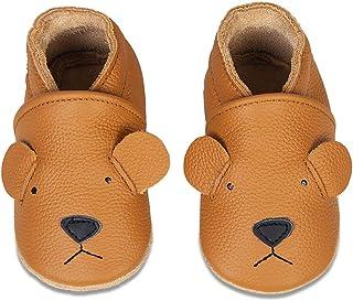 Chaussons Bébé Premiers Pas Chaussures Cuir Souple Bébé Fille Garçon Mignon Colorée Animaux Pantoufles 0-6 Mois - 2Ans