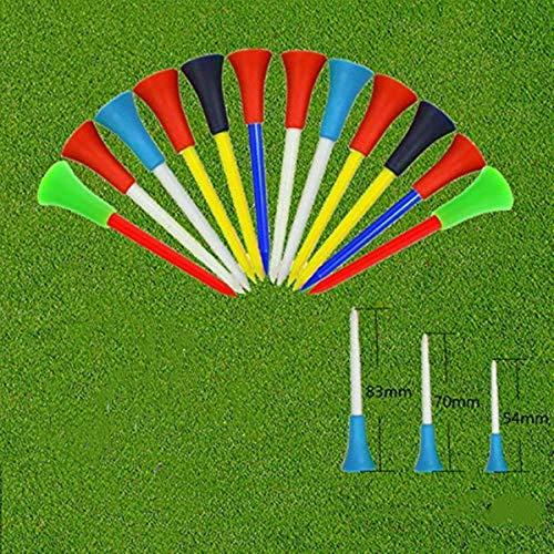 Golf Tee Plastica 50 Pezzi Lungo Breve con Testa in Gomma 83mm 70 mm 54 mm Tee da Golf Miscelazione Delcolore Completamente Taglia unica O tre Dimensioni Miste (50 Pack- mescolare(54 70 83mm))