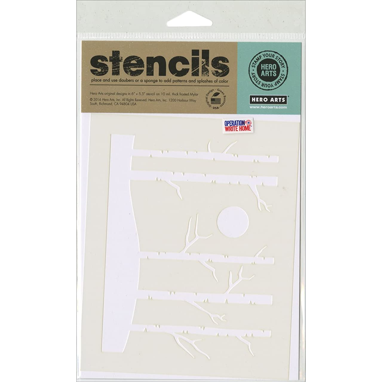 Hero Arts Stencils, 6.25 by 5.25-Inch, Forest