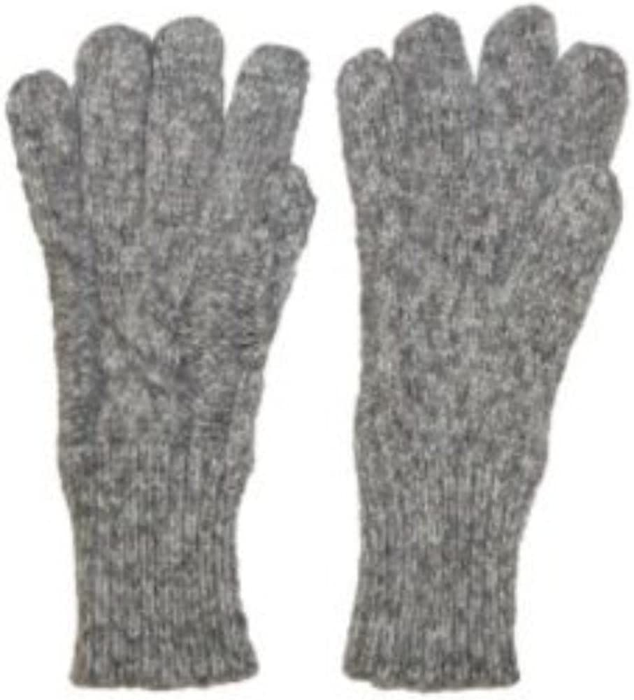 Fownes Womens Soft & Sleek Gray Cable Knit Gloves