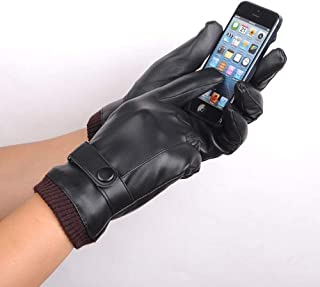 Cochanvie Leather Gloves Touch Screen Motorcycle PU for iPhone X/iPad/iPhone 8 Plus/Samsung S9 S8/ Huawei/HTC/BlackBerry/L...