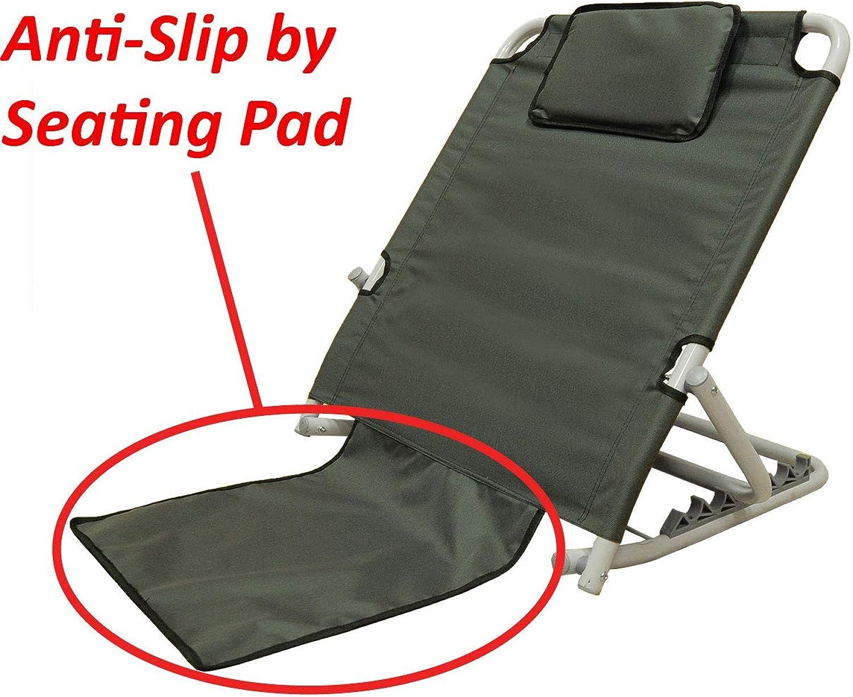 "ObboMed SM-5200G Adjustable Sit-up Back Rest Orthopedic Neck, Head Lumbar Support, Polyester, PVC & Chromed Steel Frame, Check, 22.5""25.6""19.7"", 1pc"