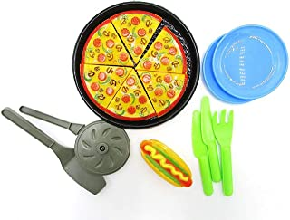 Dazzling Toys Pizza Pie Party + Cooking & Cutting Accessories Play Set Toy for Kids