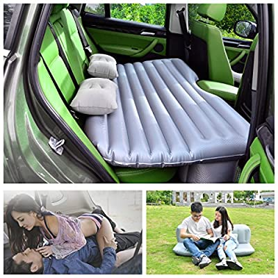Mattresses for Car HappyCell Car Travel Inflatable Mattress Air Bed Camping Universal SUV Back Seat Couch with 2 pc Pillows and a Pump