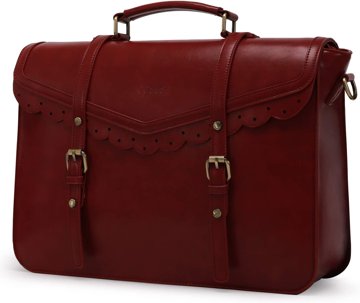ECOSUSI Women Briefcase Messenger Laptop Bag Satchel Handbags Fit 15.6