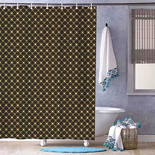 Free Brand Braunes Carbon-Design Muster Die Geometrie Duschvorhang Badezimmer mit Haken Polyestergewebe Lang Duschvorhang Stall Badewannen Wasserdicht Vorhang Liner 183 x 183 cm