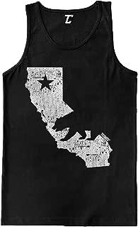 California State Map - Cali Bear Men's Tank Top