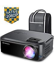 VANKYO V620 1080PフルHDプロジェクター 5500ルーメン LEDプロジェクター 1920×1080ネイティブ解像度 4K対応 ビジネス/ホームシアターに適用 TV Stick/HDMI/X-Box/Laptop/iPhone/ゲーム機に接続可