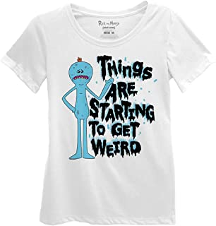 RICK AND MORTY Things are Starting to Get Weird Juniors White T-Shirt