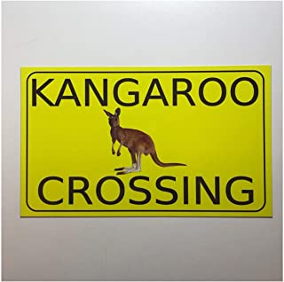 Mildred Rob Kangaroo Crossing Sign Available in Plaque Hanging Australian Aussie Native Animal