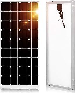 DOKIO 超高効率 ソーラーパネル 100w 12v 単結晶 弱光環境でも安定出力 防災グッズ 車中泊 自作のソーラー発電に最適な小型・家庭用太陽光パネル 耐久性を誇り