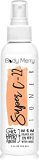 Body Merry Super C-22 Toner for Face & Neck w/Vitamin C + Organic Aloe + Tea Tree Oil to Clean Pores, Remove Oil & Dirt to Clear Skin & Combat Acne