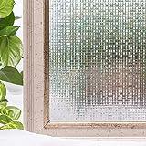 LMKJ Película de privacidad para Ventanas de casa película estática 3D sin Adhesivo, Pegatinas de Vidrio para Ventanas A131 30x100cm