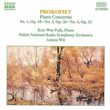 Prokofiev: Piano Concertos Nos. 1, 3 & 4