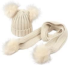 double faux fur pom pom hat baby