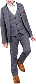 Cozy Maker(C&M)スーツセット 子供服 男の子 フォーマル 入学式 上下セット ジュニア キッズ 男児 卒園式 入園式 結婚式 発表会 卒業式 喪服 無地 紳士服 3点セット コート+パンツ+ベスト
