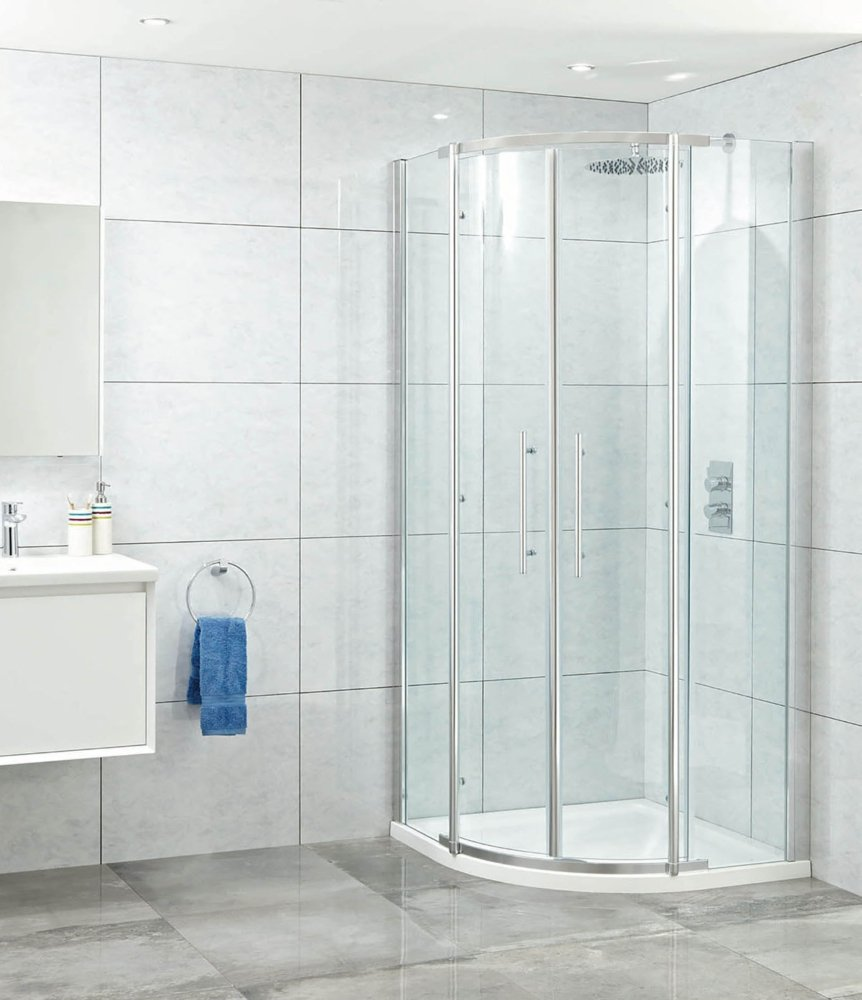 Phoenix Elegance 8 mm doble Quad para mampara de ducha 1000 mm x 1000 mm D cristal transparente: Amazon.es: Bricolaje y herramientas