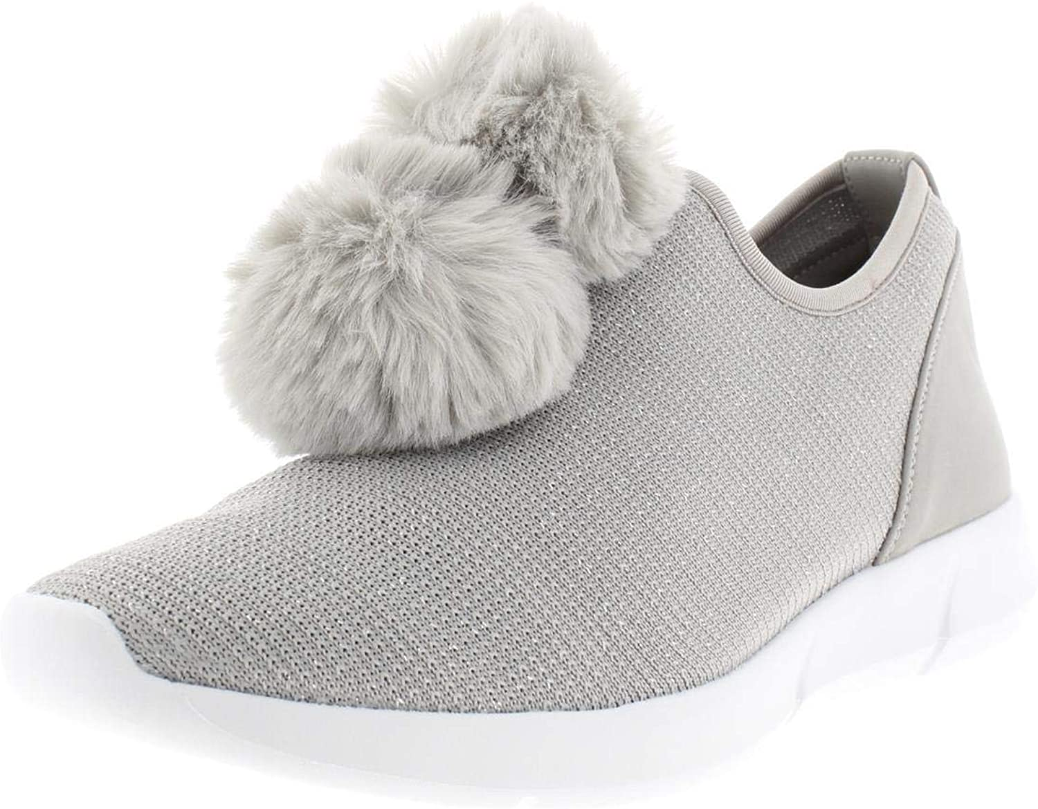 Circus by Sam Edelman Womens Lisette Faux Fur Metallic Fashion Sneakers