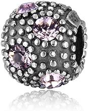 My Sunshine Sterling Silver Charm June Birthstone Bead Swarovski Crystal Fit All Charm Bracelet Necklace Women Mom Christmas Gifts EC573