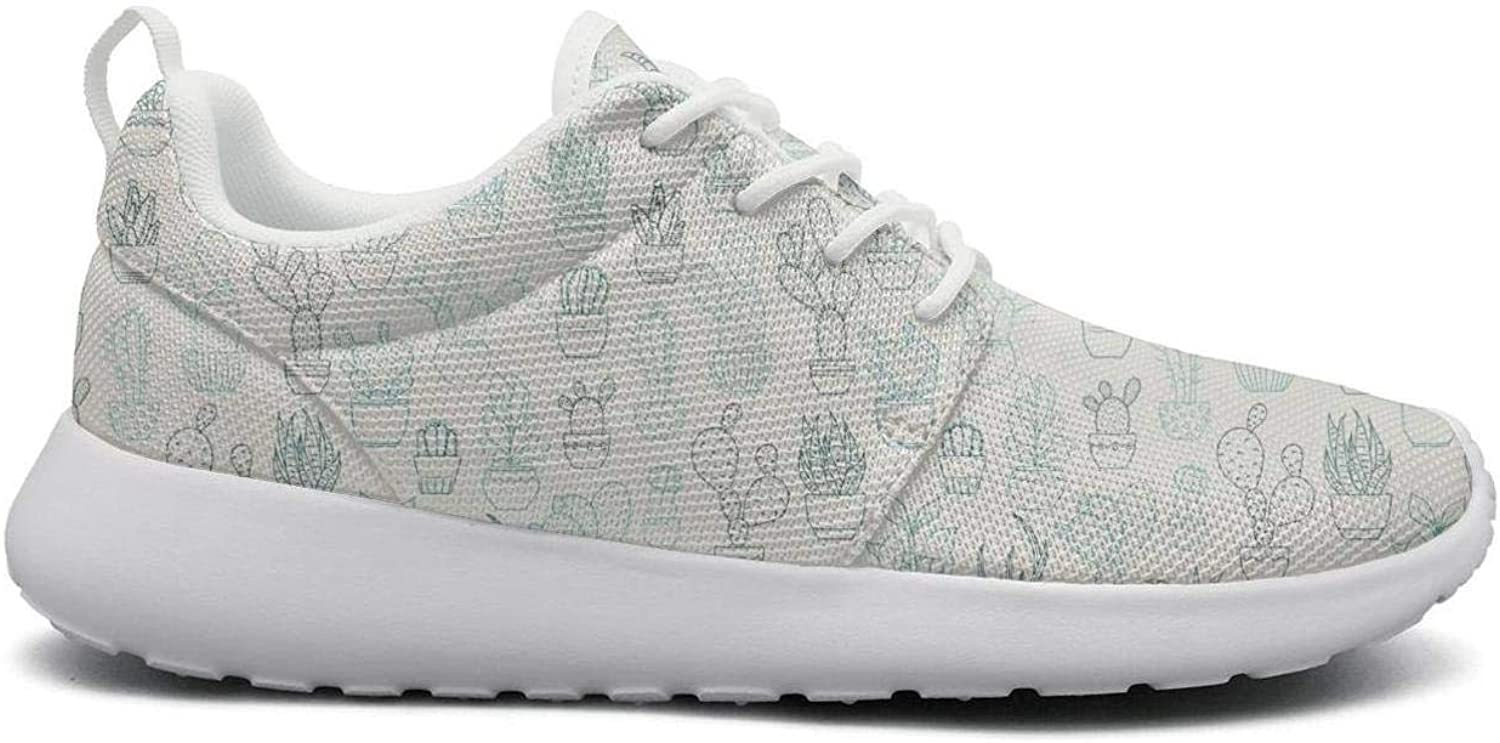UISLE7 Cute Pattern with Cactuses Womens Cute Lightweight Sneakers Running shoes Breathable