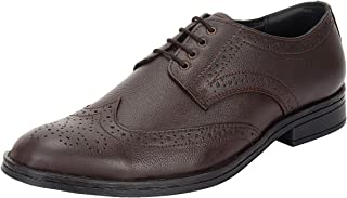 SeeandWear Brogue Shoes for Men Leather Brown Formal Shoes.