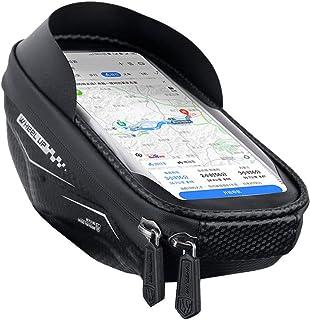Marco frontal de bicicleta resistente al agua – Soporte de teléfono móvil para bicicleta resistente a los golpes ideal para navegadores – Ajuste por debajo de 6.5 pulgadas teléfono
