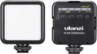 Ulanzi VL49 LED ビデオライト 充電式 2000mAh カメラライト コールドシュー付き iPhone DJI Osmo Pocket Action Mobile 3 Gopro Hero 9/8/7/6/5用 補助照明 撮影用ライト