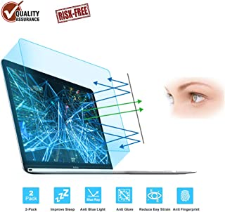 FORITO 2-Pack Eye Protection Blue Light Blocking & Anti Glare Screen Protector Compatible 2016 2017 2018 Apple MacBook Pro 13
