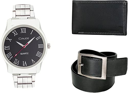 Smart Combo Analog Watch With Lether Belt Wallet