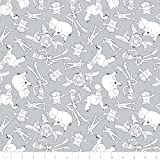 Disney Toy Story Fabric Character Outlines in Gray Premium Quality Fabric by The Yard