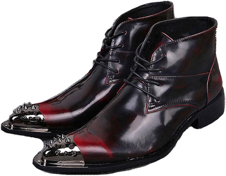Omslag Plus 2 -färgerna ny Comfort läder herr Dress Dress Dress Lace Up Steel Toe Ankle stövlar skor  begränsa köp