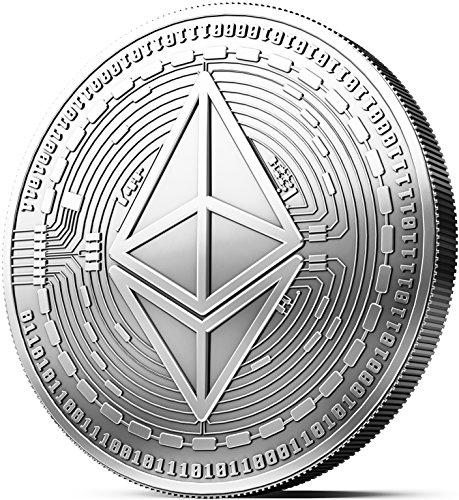 Moneta Fisica Ethereum rivestita in Argento Puro. Vero Pezzo da Collezione con Custodia, Capsula protettiva. Un Must per ogni Fan del Ethereum + GRATIS un E-Book contro i Cyber-Attacchi