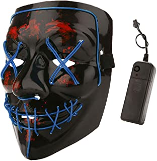 Halloween Costume Festival Parties Scary Mask LED Light Up Masks
