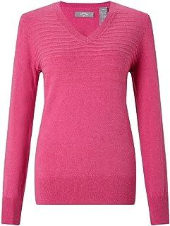Callaway Women's Jaspe V-Neck Sweater Golf Jumper, Womens, Golf Jumper, CGGS8059, Pink, S