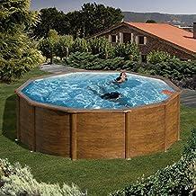 Pool Juego de Feeling redondo 300x 120cm Aspecto de Madera