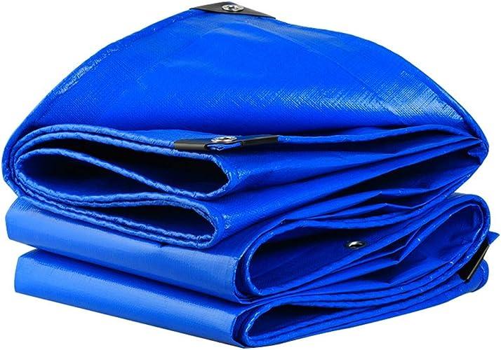 1949shop Housse de Prougeection en polyuréthane avec Tente pour abri de Camping extérieur Bleu 4×6m