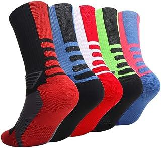 Elite Basketball Socks 3/5 Pack| Athletic Crew Sport for Boy Girl Men Women …