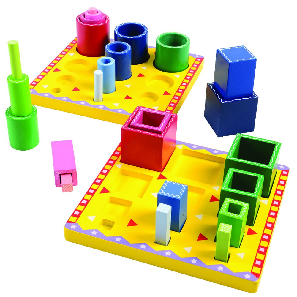 Constructive Playthings Wooden Tube Sorting Explore Blocks OFFicial store to Raleigh Mall Co