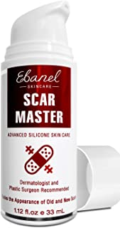Ebanel Advanced Silicone Scar Gel, 1.12 Oz Scar Removal Cream for Old & New Scars of Acne, Surgical, C-Section, Injuries, Burn, Cuts, Insect Bites, Stretch Marks with Vitamin E, Emu Oil, Onion Extract