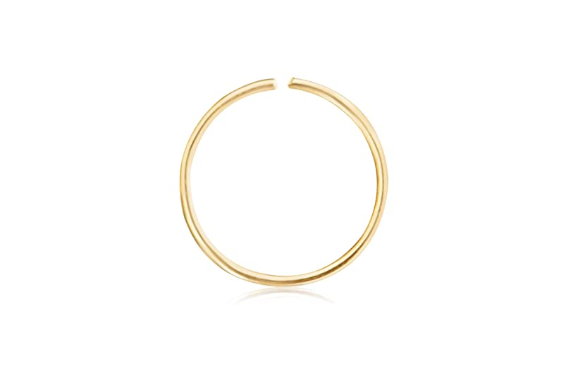 ONDAISY 10K Solid Gold Open Tragus Cartilage Snug Daith Helix Inner Outer Conch Round Large Big Tiny Small Thin Mini Face Nose Septum Hoop Ring Ear Piercing For Women Girls Men
