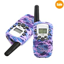 Vivisafe Walkie Talkies for Kids 2 PCS US Standard 22 Channels 2-Way Talk in 2 Miles Range, Classic Toys for 3-12 Years Old, Teens Boys, Girls, Birthday Gifts [2019 Upgraded] (Camouflage Purple)