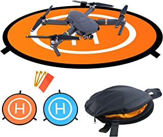 Drones Landing Pad,Homga Universal Waterproof D 75cm/30'' Portable Foldable Landing Pads for RC Drones Helicopter, PVB Drones, DJI Mavic Pro Phantom 2/3/4/ Pro, Antel Robotic, 3DR Solo (Landing pad)