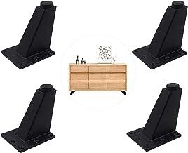 Set van 4 Meubelkastvoeten Verstelbare Aluminium Driehoek Keukenvoeten, Oblique Tapered Legs Kasten Slaapbank Tafelmeubelp...
